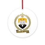 BERNIER Family Crest Ornament (Round)