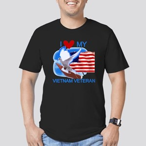 Love My Vietnam Veteran Men's Fitted T-Shirt (dark