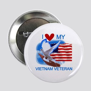 "Love My Vietnam Veteran 2.25"" Button"