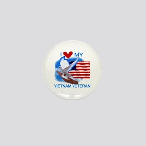 Love My Vietnam Veteran Mini Button