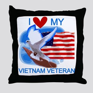 Love My Vietnam Veteran Throw Pillow