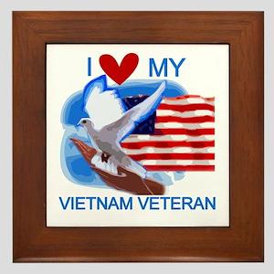 Love My Vietnam Veteran Framed Tile