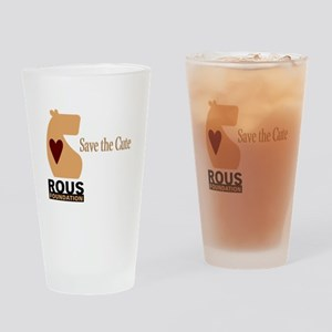 ROUS Foundation loo: Save the Cute Drinking Glass