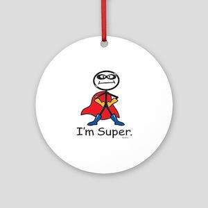 Super Hero Ornament (Round)