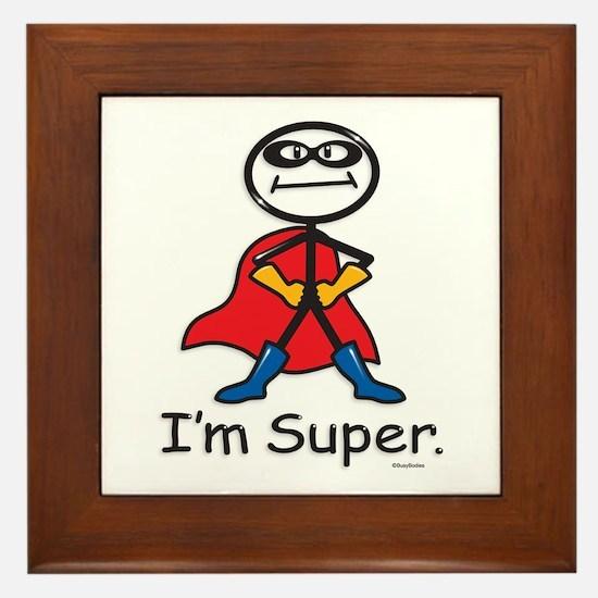 Super Hero Framed Tile