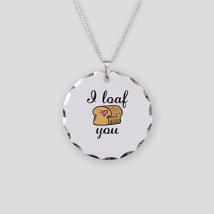 I Loaf You Necklace Circle Charm