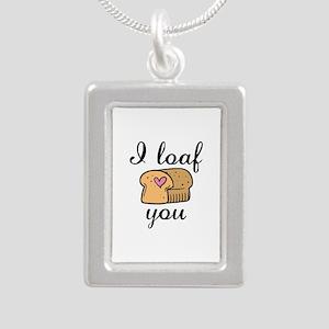 I Loaf You Silver Portrait Necklace