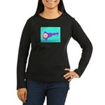 Key with Flower Women's Long Sleeve Dark T-Shirt