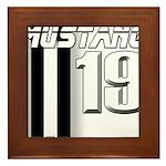mustang 19 Framed Tile