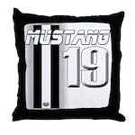 mustang 19 Throw Pillow