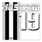 mustang 19 Square Car Magnet 3