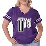 mustang 19 Women's Plus Size Football T-Shirt