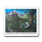 Mousepad - Ninos y Jesus en la naturaeza
