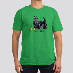 Scottish Terrier Holiday Dog Men's Fitted T-Shirt