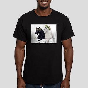 Scottish Terrier Westie Xmas Men's Fitted T-Shirt