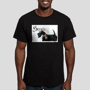 Celtic Scottie Men's Fitted T-Shirt (dark)
