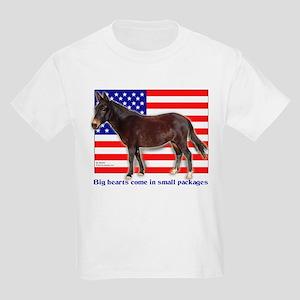 Patriotic Mini Mule Kids Light T-Shirt