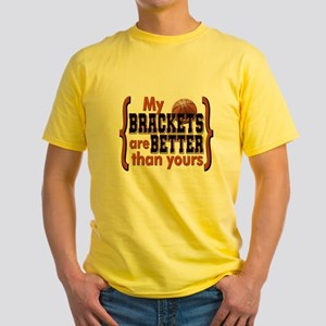 March Madness Brackets Orange Yellow T-Shirt
