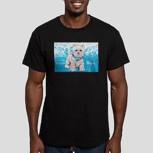 Westie Blues Men's Fitted T-Shirt (dark)