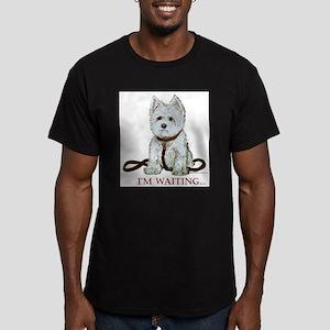 Westie Walks Men's Fitted T-Shirt (dark)