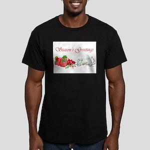 Westie Greetings Men's Fitted T-Shirt (dark)