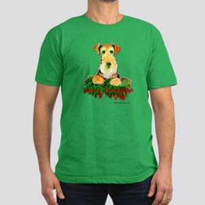 Airedale Holiday Men's Fitted T-Shirt (dark)