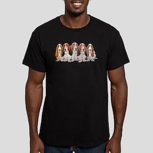 Basset Hound Bevy Men's Fitted T-Shirt (dark)