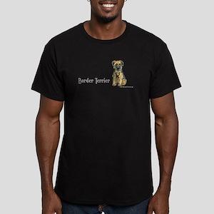 Border Terrier Men's Fitted T-Shirt (dark)