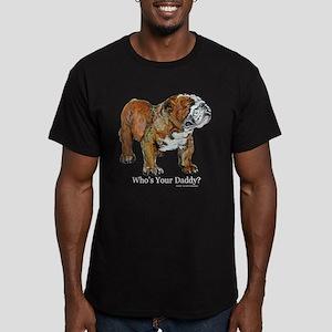 Bulldog Daddy Men's Fitted T-Shirt (dark)