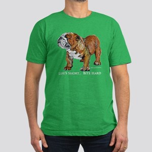 Bulldogs Life Motto Men's Fitted T-Shirt (dark)