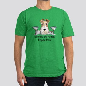 Wire Fox Terrier Happy Hour Men's Fitted T-Shirt (