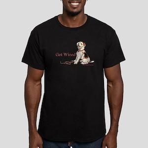 Wire Fox Terrier Dog Walk Men's Fitted T-Shirt (da