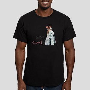 Fox Terrier Walk Men's Fitted T-Shirt (dark)