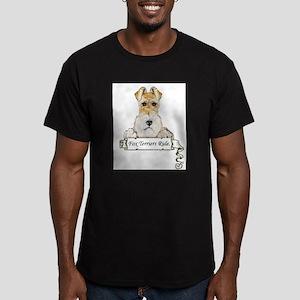Fox Terriers Rule Men's Fitted T-Shirt (dark)