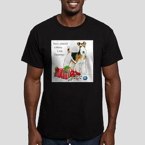 Merry Little Fox Terrier Men's Fitted T-Shirt (dar