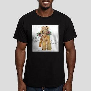 Bite Hard Lakeland Terrier Men's Fitted T-Shirt (d