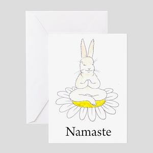 Namaste Bunny Greeting Card