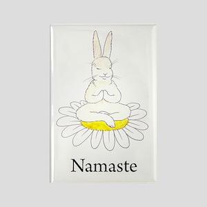 Namaste Bunny Rectangle Magnet