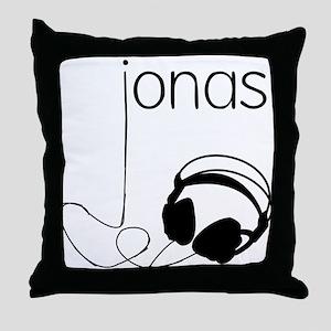 Jonas Bros Headphones Throw Pillow