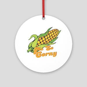 Me So Corny Ornament (Round)