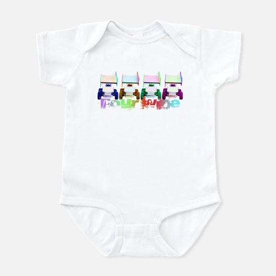 Four Wide Infant Bodysuit
