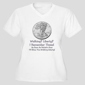 Walking Liberty Rehab Women's Plus Size V-Neck T-S