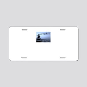 camelior - Stacked Stones Aluminum License Plate
