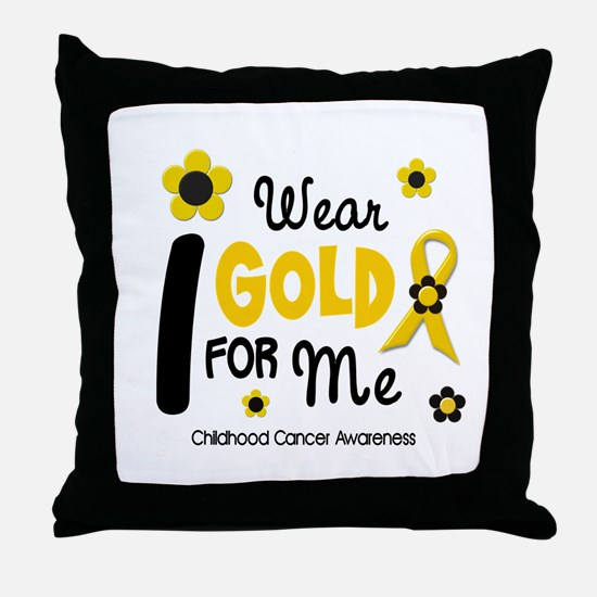 I Wear Gold 12 Me CHILD CANCER Throw Pillow