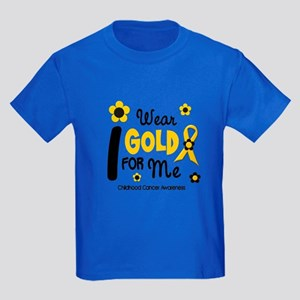 I Wear Gold 12 Me CHILD CANCER Kids Dark T-Shirt