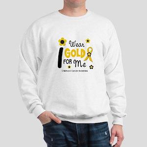 I Wear Gold 12 Me CHILD CANCER Sweatshirt