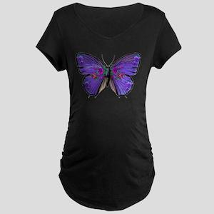 Persephone's Butterfly Maternity Dark T-Shirt