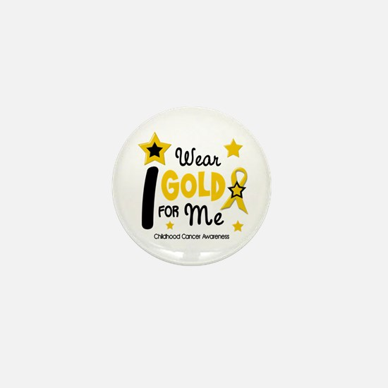 I Wear Gold 12 Me CHILD CANCER Mini Button