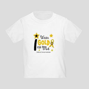 I Wear Gold 12 Me CHILD CANCER Toddler T-Sh