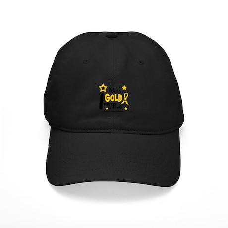 I Wear Gold 12 Me CHILD CANCER Black Cap